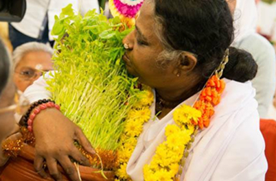 Amma kissing tulsi